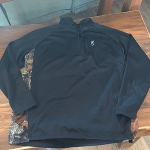 Men's browning 3/4 zip pullover sweatshirt